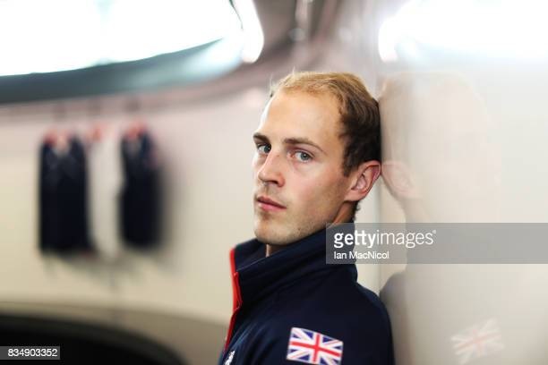 PyeongChang Winter Olympic hopeful Kyle Smith poses for photographs at The Orium sports complex on August 18 2017 in Edinburgh Scotland