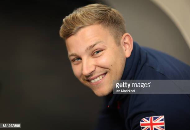 PyeongChang Winter Olympic hopeful Kyle Waddell poses for photographs at The Orium sports complex on August 18 2017 in Edinburgh Scotland
