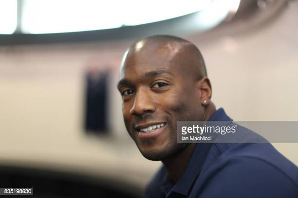 PyeongChang Winter Olympic hopeful Toby Olubi poses for photographs at The Orium sports complex on August 18 2017 in Edinburgh Scotland