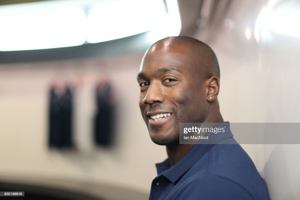 PyeongChang Winter Olympic hopeful Toby Olubi poses for photographs at The Orium sports complex on August 18, 2017 in Edinburgh, Scotland.
