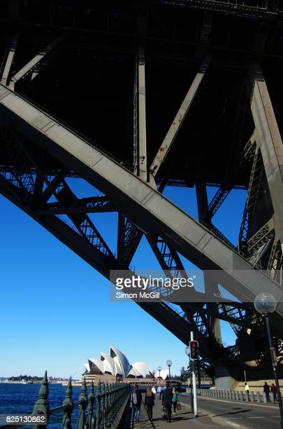 Pylon and supporting structure of the Sydney Harbour Bridge, Dawes Point, Sydney, New South Wales, Australia