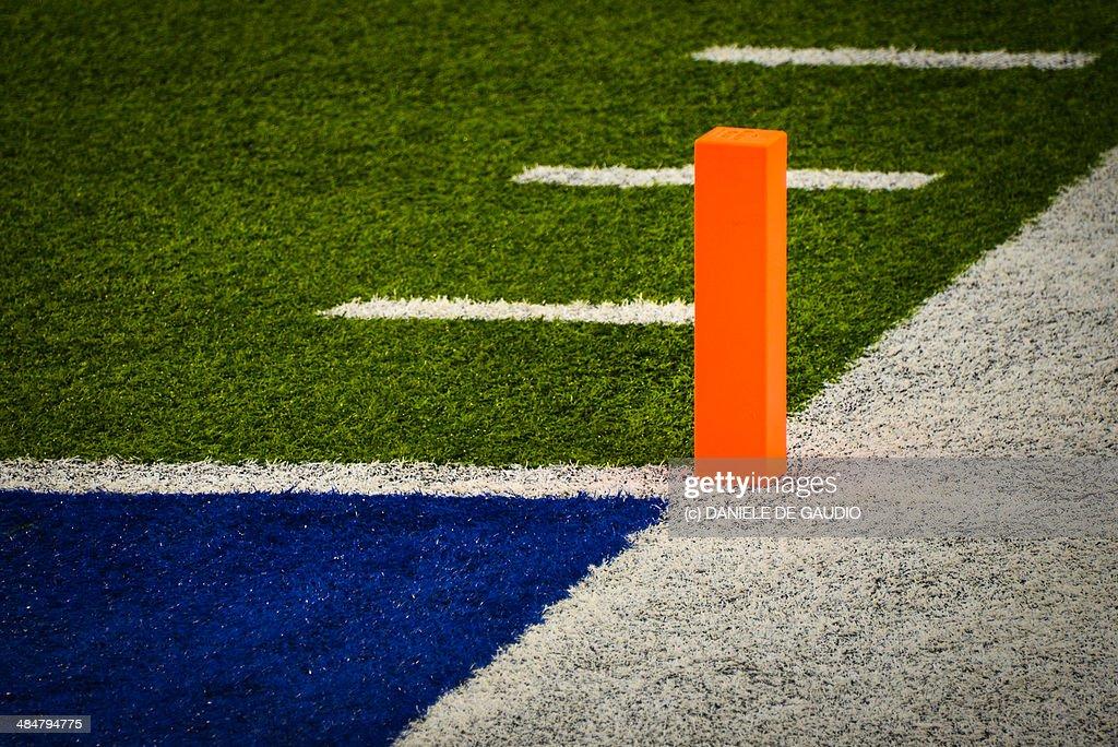Pylon on a football field
