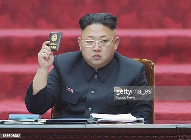 Pyongyang North Korea North Korean leader Kim Jong Un attends a session of the Supreme People's Assembly the country's parliament in Pyongyang on...