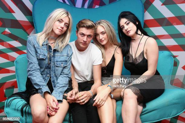 Pyper Smith Lucky Blue Smith Daisy Smith and Starlie Smith attends HM Loves Coachella Tent during day 1 of the Coachella Valley Music Arts Festival...