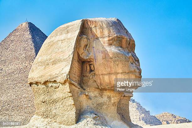Pyramid and sphinx at giza