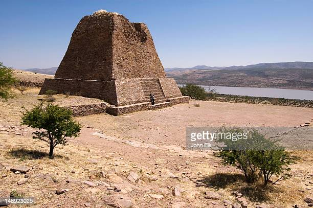 Pyramid at pre-Columbian archaeology site.