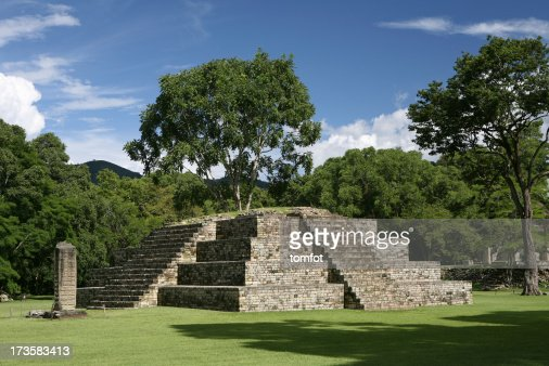 pyramid in precolumbian old city Copan