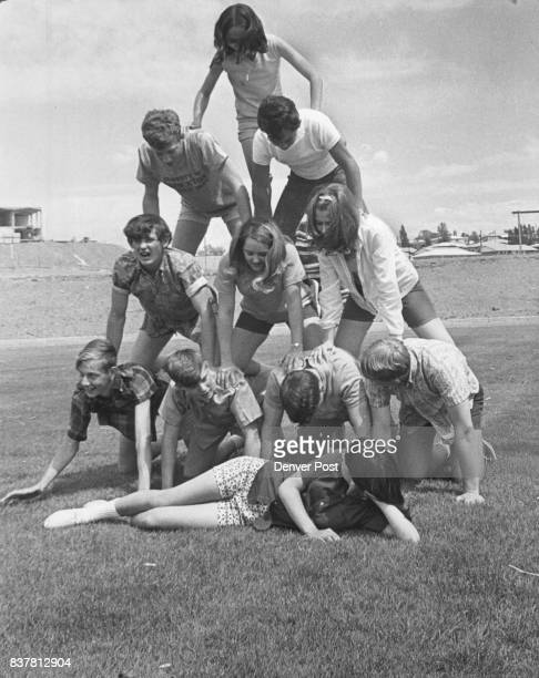Pyramid is for Field Day The above pyramid human was just field day activity of the students at Highland High School 9000 York St We don't know who...