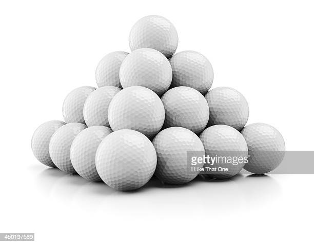 Pyramid made from golfballs