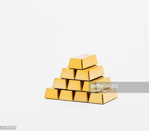 Pyramid made of equal gold bullion