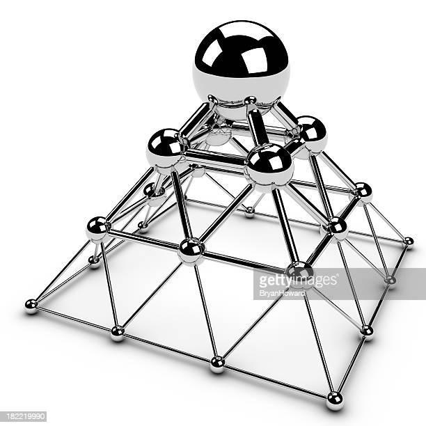 Pyramid of chrome spheres