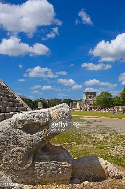 Pyramid of Kukulkan Mayan ruins of Chichen Itza Mayan Riviera Yucatan Peninsula Mexico