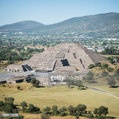 Pyramid of the Moon in Teotihuacan, Mexiko : Stock-Foto