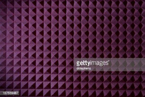 Pyramid sound recording foam background