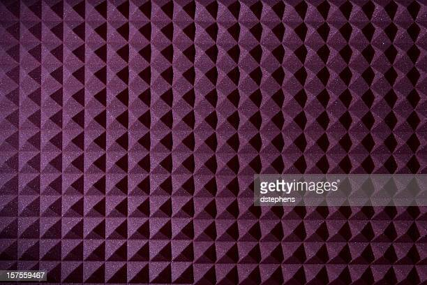 Pyramid sound recording foam background