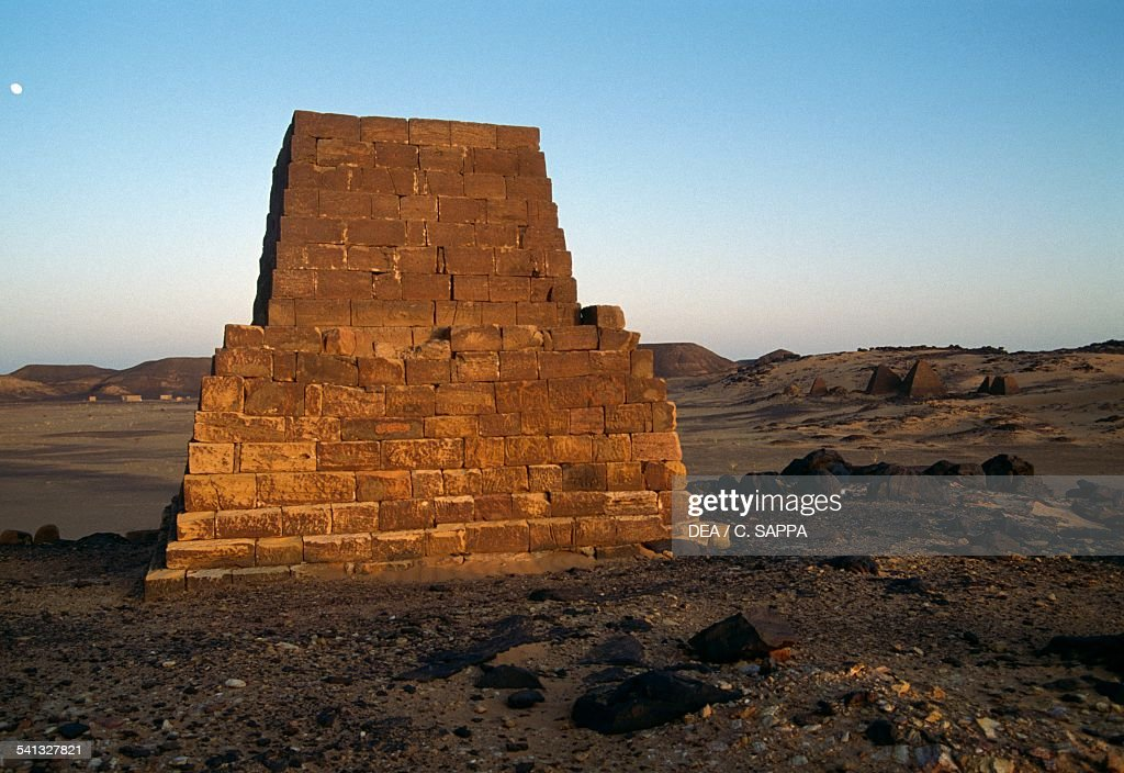 Pyramid tomb in Meroe necropolis 700400 BC Egyptian civilisation Sudan 8th5th century BC