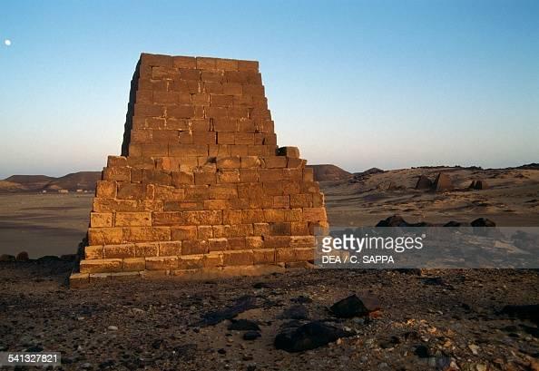 Pyramid tomb in Meroe necropolis 700400 BC Egyptian civilisation Sudan 8th5th century BC