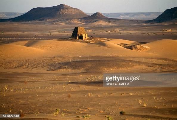 Pyramid tombs in Meroe necropolis 700400 BC Egyptian civilisation Sudan 8th5th century BC