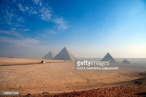 Pyramids, Giza, Egypt : Stock Photo