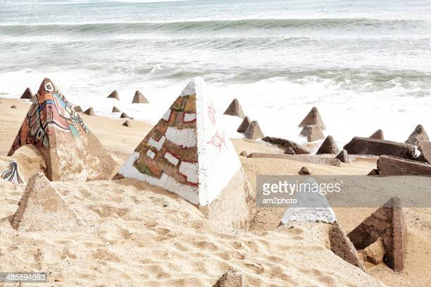 Pyramids in the beach
