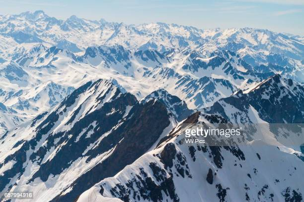 Pyrenees mountain range from Pic du Midi Observatory Pic du Midi de Bigorre HautesPyrenees department MidiPyrenees region France Europe