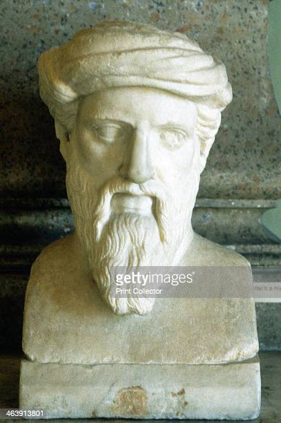 Pythagoras Ancient Greek mathematician and philosopher 6th century BC Portrait bust As a philosopher Pythagoras promoted the doctrine of the...