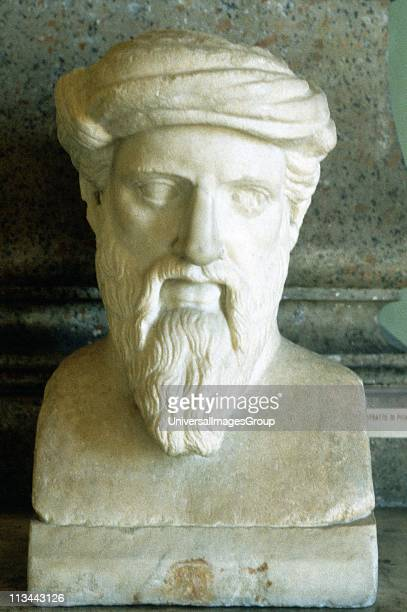 Pythagoras Ancient Greek mathematician and philosopher Portrait bust