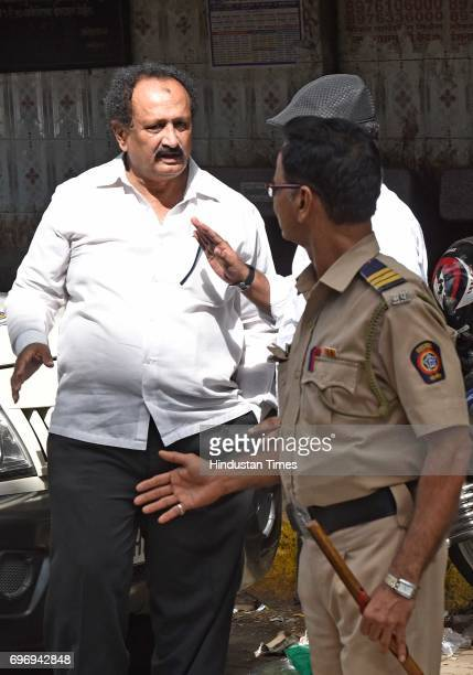 Qadir Shaikh brother of Qayoom Shaikh who has been acquitted in 1993 Mumbai bomb blast case outside Arthur Road jail before the accused was brought...