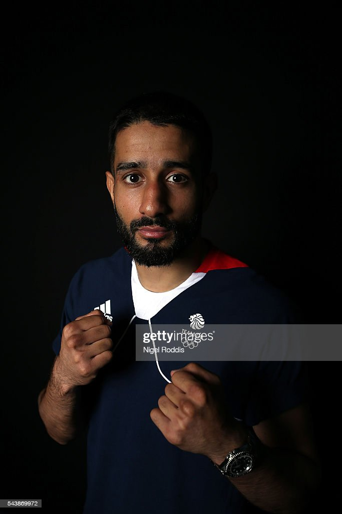 Qais Ashfaq of Great Britain during the Announcement of Boxing Athletes Named in Team GB for the Rio 2016 Olympic Games at the Institute of Sport on June 30, 2016 in Sheffield, England.