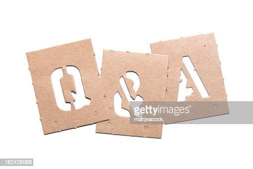Q&A Stencil Word