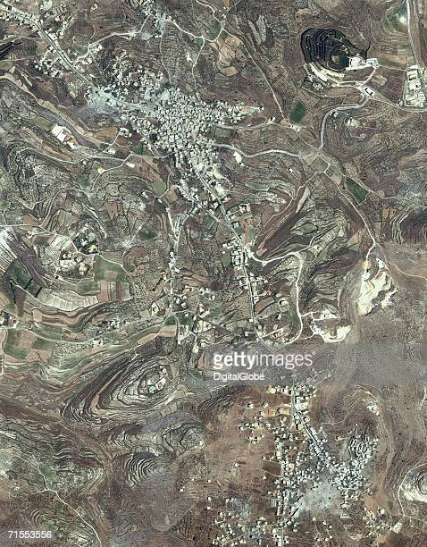 Qana Lebanon is seen in this satellite image collected on July 22 2006
