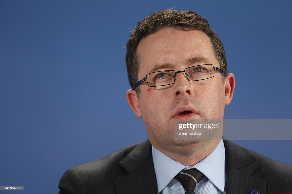 Qantas airline CEO Alan Joyce attends the official signing of a document confirming Air Berlin's acceptance into the oneworld alliance at Berlin Brandenburg Airport on March 20, 2012 in Berlin, Germany. Air Berlin joins 10 other international airlines in the alliance.