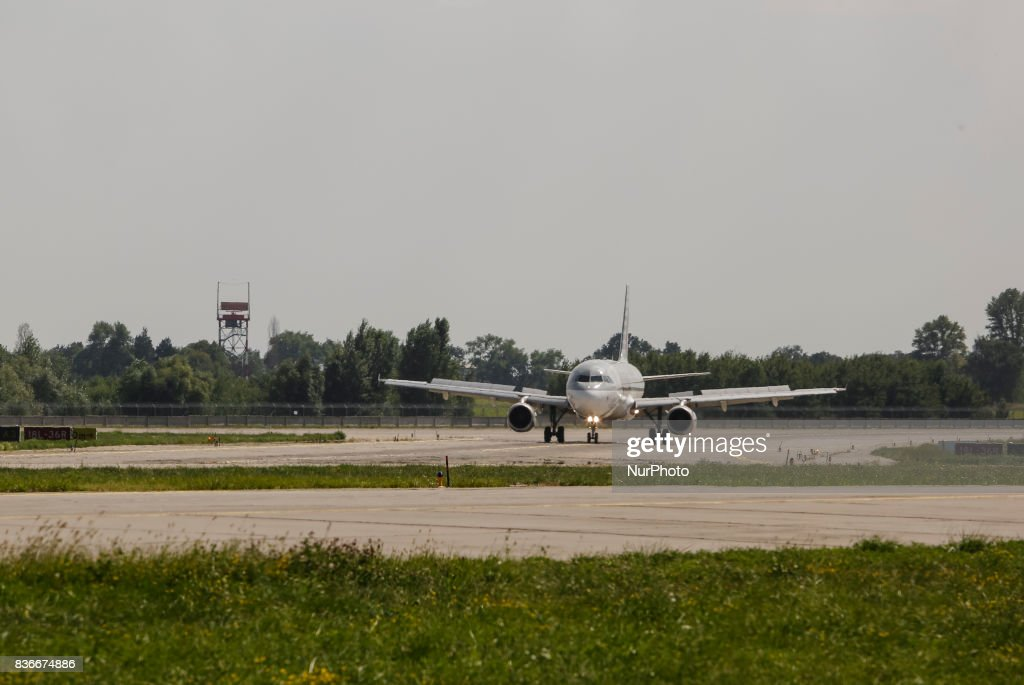 "Qatar Airlines plane is seen landing at The International Airport 'Boryspil' on 21 August 2017 in Kiev, Ukraine. Because of the increasing of The International Airport ""Boryspil"" passengers traffic up to 18.8% the past year, the management of airport decided to improve the infrastructure and to implement seven large infrastructure projects in the country's largest airport for a total of about $ 500 million over the next five years."