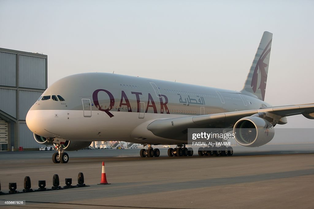 Qatar Airways takes delivery of its first Airbus A380 on September 18 at Hamad International Airport in Doha Qatar Airways expected to take delivery...