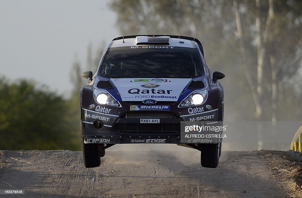 Qatar driver Nasser Al-Attiyah of Qatar World Rally Team during stage two on the first day of the FIA World Rally Championship's at the Speedway of Leon, Guanajuato State, Mexico, 08 March 2013. AFP PHOTO/Alfredo Estrella