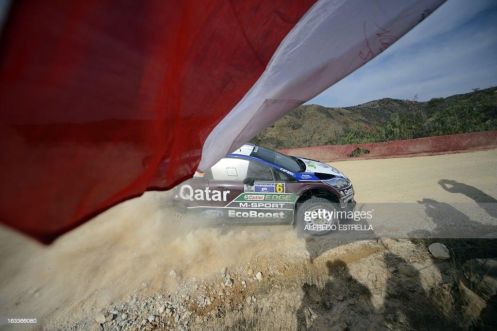 Qatar driver Nasser Al-Attiyah of Qatar World Rally Team during the first day of the FIA World Rally Championship's in Silao, Guanajuato State, Mexico, 08 March 2013. AFP PHOTO/Alfredo Estrella