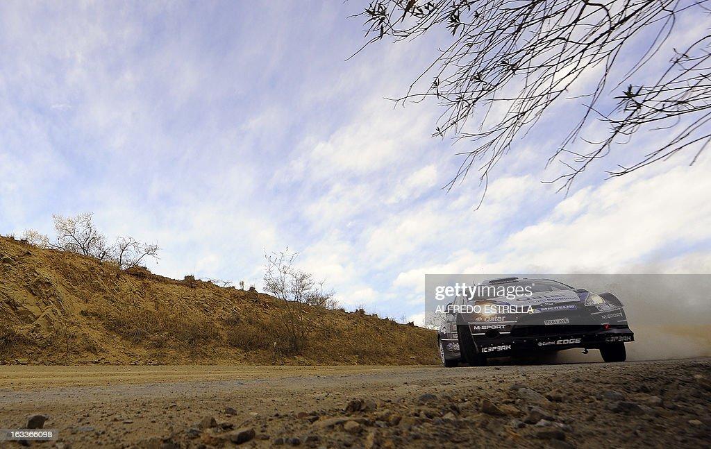 Qatar driver Nasser Al-Attiyah of Qatar World Rally Team during the first day of the FIA World Rally Championship's in Silao, Guanajuato State, Mexico, March 8, 2013. AFP PHOTO/Alfredo Estrella