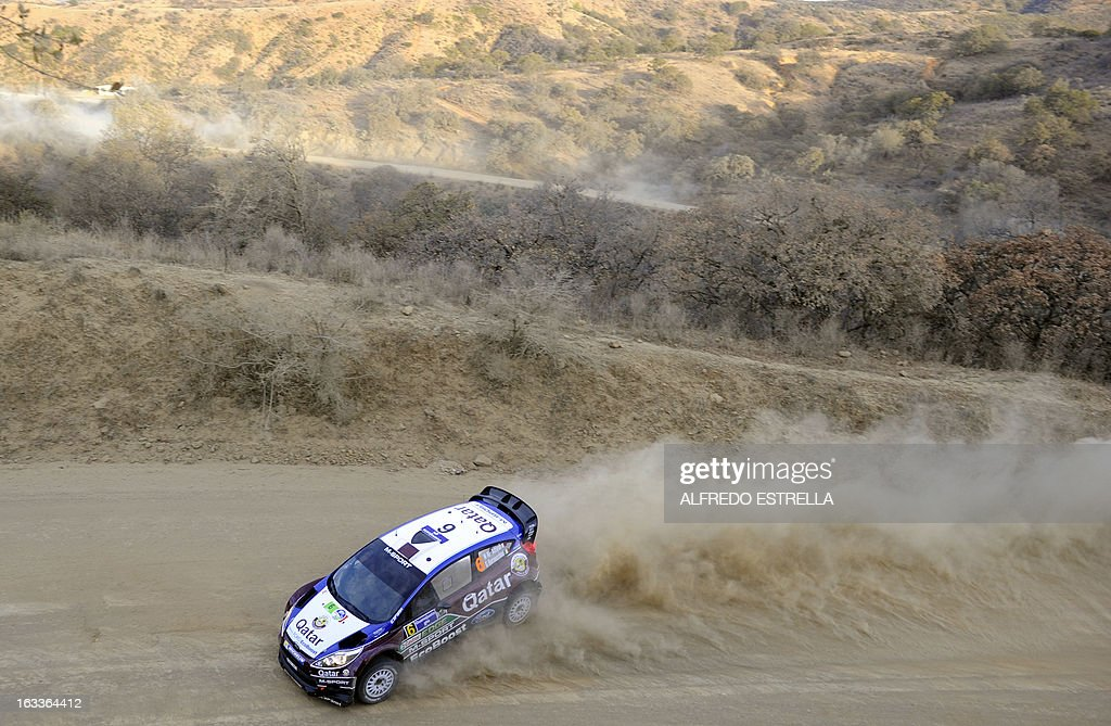 Qatar driver Nasser Al-Attiyah of Qatar World Rally Team uring the first day of the FIA World Rally Championship's in Silao, Guanajuato State, Mexico, March 8, 2013. AFP PHOTO/Alfredo Estrella