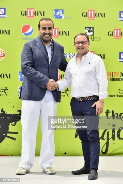 Qatar Tourism Authority Chairman Issa bin Mohammed Al Mohannadi and Director of Giffoni Experience Piero Rinaldi attend Giffoni Film Festival 2017...