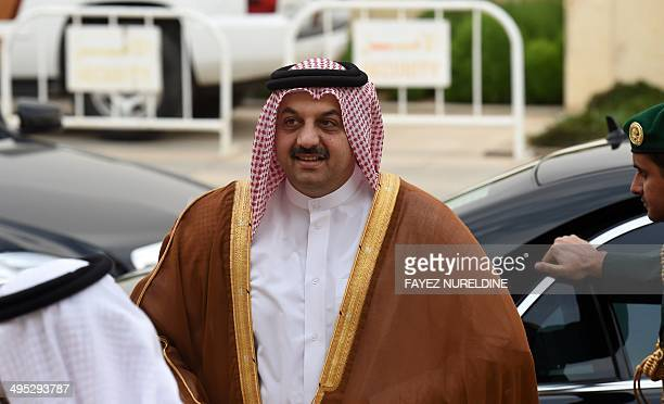 Qatari Foreign Minister Khalid bin Mohammed alAttiyah arrives to attend the 131th meeting of the Foreign Ministers of the Gulf Cooperation Council on...