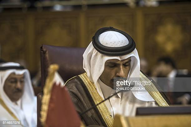 Qatari Foreign Minister Sheikh Mohammed bin Abdulrahman bin Jassim alThani attends a meeting of Arab foreign ministers to elect a new secretary...
