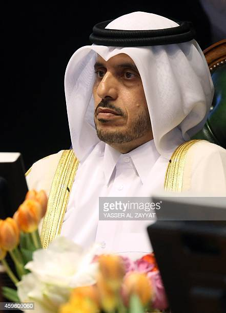 Qatari Minister of State for Internal Affairs Abdullah bin Nasser bin Khalifa AlThani attends the 33rd meeting for the Gulf Cooperation Council...