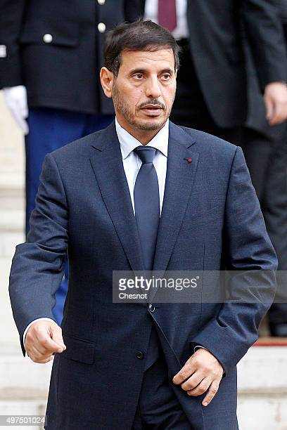 Qatari Prime Minister Abdullah bin Nasser bin Khalifa Al Thani leaves after a meeting with French President Francois Hollande at the Elysee...