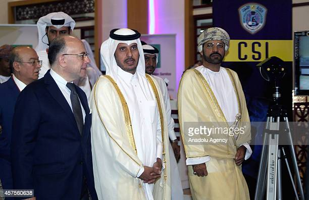 Qatari Prime Minister and Minister of Interior Sheikh Abdullah bin Nasser bin Khalifa AlThani French Interior Minister Bernard Cazeneuve and Omani...