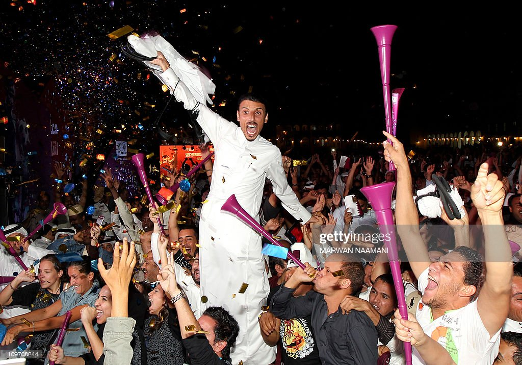 Qataris and foreigners residing in Doha celebrate in the Qatari capital after the tiny Gulf state was chosen to host the 2022 World Cup on December 2, 2010. Qatar became the first Arab, Middle Eastern or Muslim country to be awarded the right to stage football's World Cup.