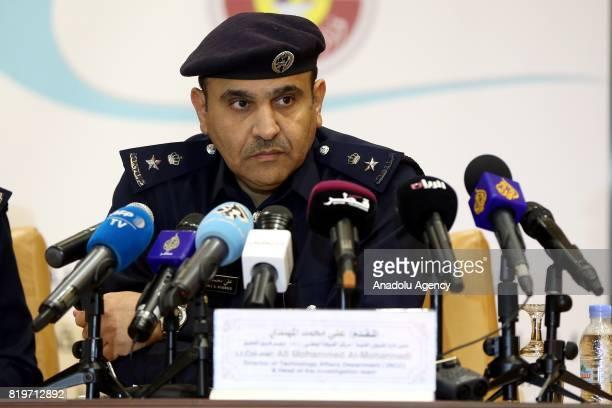Qatar's deputy director of security Othman Salem alHamoud Head of Qatari Interior Ministry's technology division Ali Mohammed AlMohannadi and...