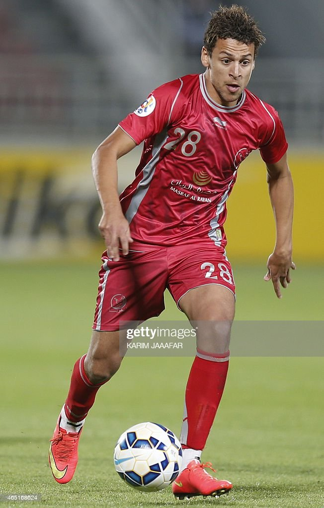 Qatar's Lekhwiya player <a gi-track='captionPersonalityLinkClicked' href=/galleries/search?phrase=Youssef+Msakni&family=editorial&specificpeople=5672735 ng-click='$event.stopPropagation()'>Youssef Msakni</a> dribbles the ball during his AFC Champions League Group A football match against Saudi Arabia's Al-Nassr in Doha on March 3, 2015.