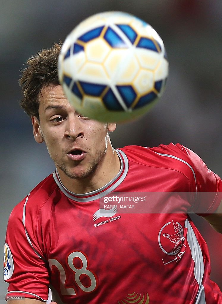 Qatar's Lekhwiya player <a gi-track='captionPersonalityLinkClicked' href=/galleries/search?phrase=Youssef+Msakni&family=editorial&specificpeople=5672735 ng-click='$event.stopPropagation()'>Youssef Msakni</a> in action against Iran's Persepolis during their AFC Champions League football match at the Abdullah Bin Khalifa Stadium in Doha, on April 22, 2015.