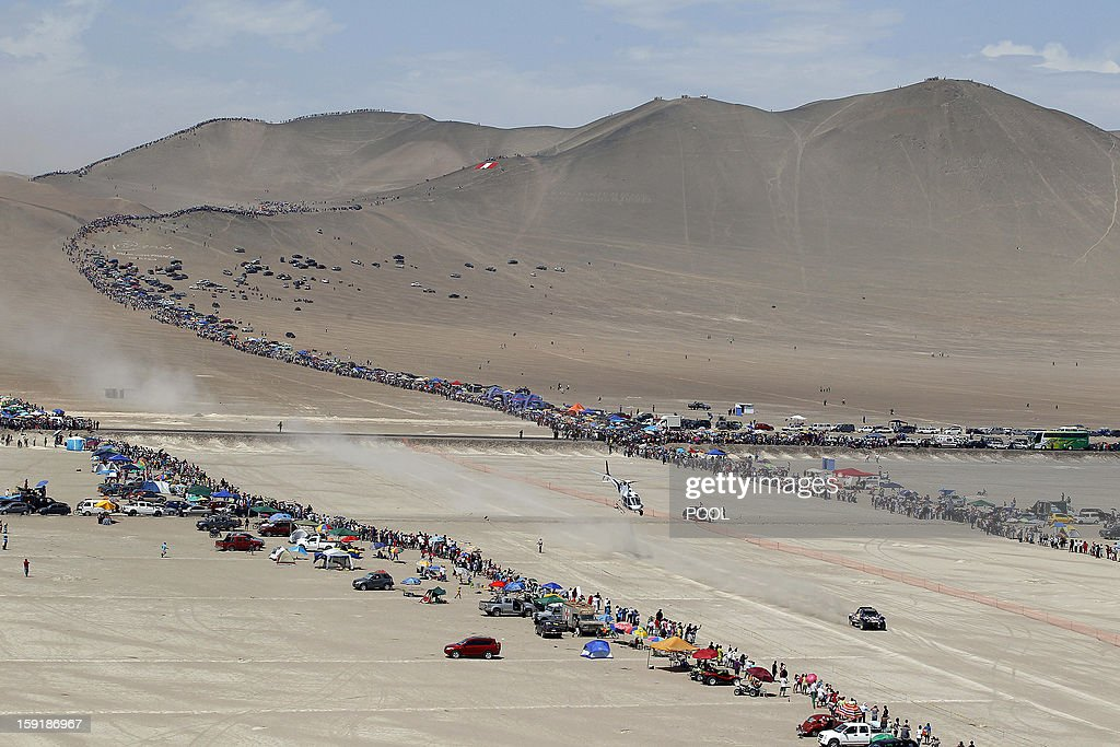 Qatar's Nasser Al-Attiyah steers his buggy during Stage 5 of the Dakar Rally 2013 between Arequipa and Arica, Chile, on January 9, 2013. The rally will take place in Peru, Argentina and Chile from January 5 to 20.