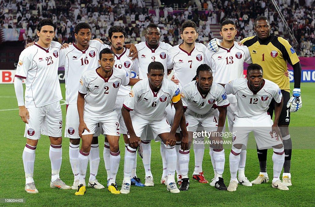 Qatar's players Sebastian Soria Mohammed alSayed Ibrahim alGhanem Mohammed Kasola Wissam Rizq Ibrahim Majed Qasem Burhan Hamid Ismail Bilal Rajab...